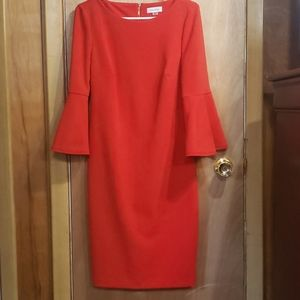 Bell Sleeve Fitted Dress